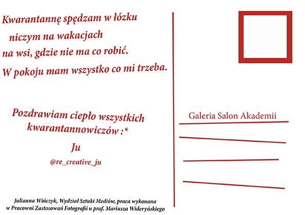 Pocztówka od Julianna Wińczyk